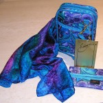 Matching scarf, bag and tissue holder
